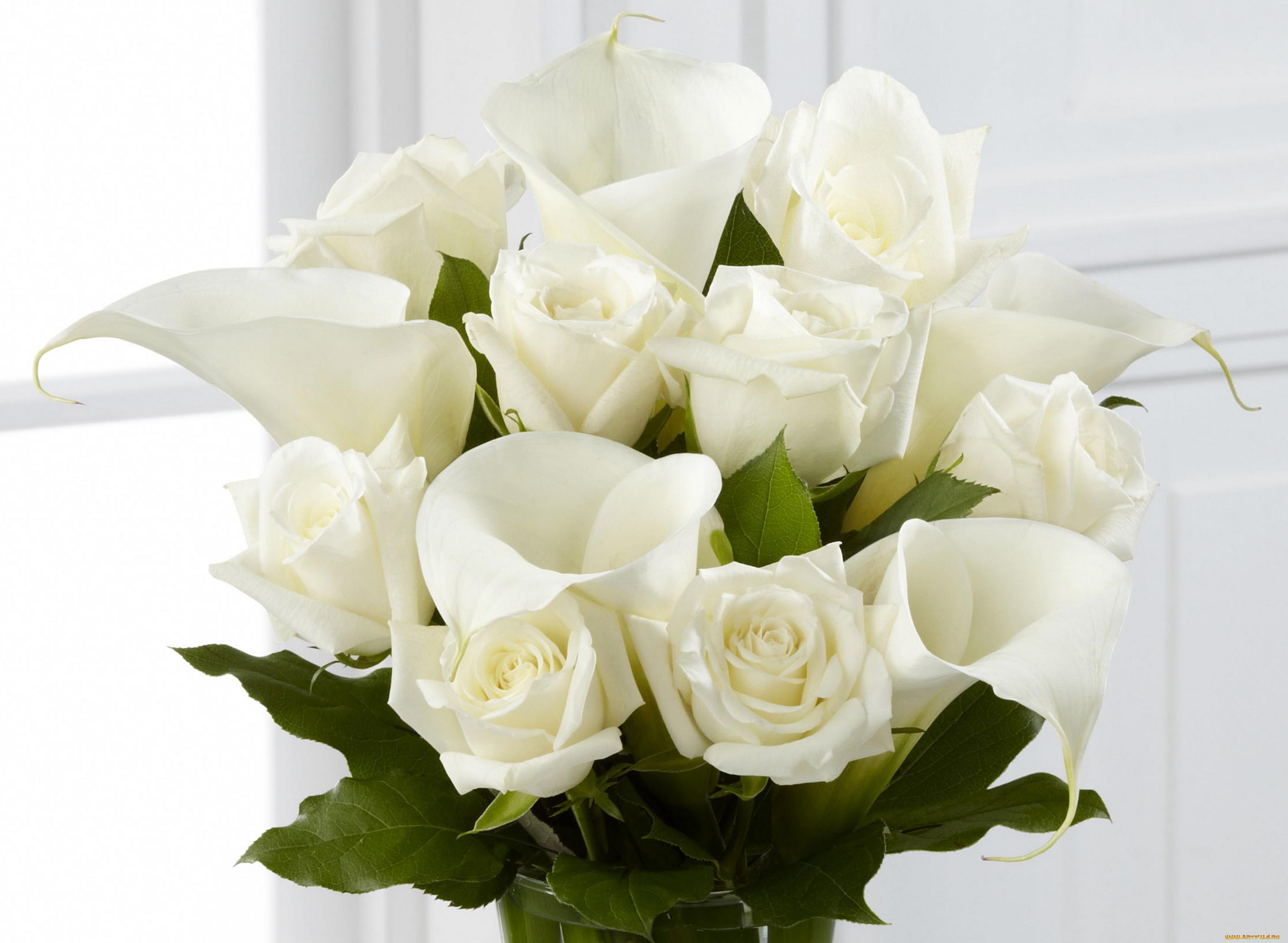 открытка букет цветов для самой красивой